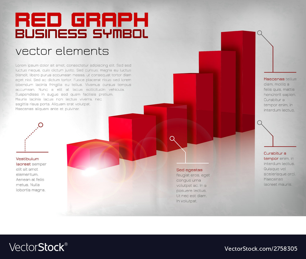 Graph red text vector | Price: 1 Credit (USD $1)