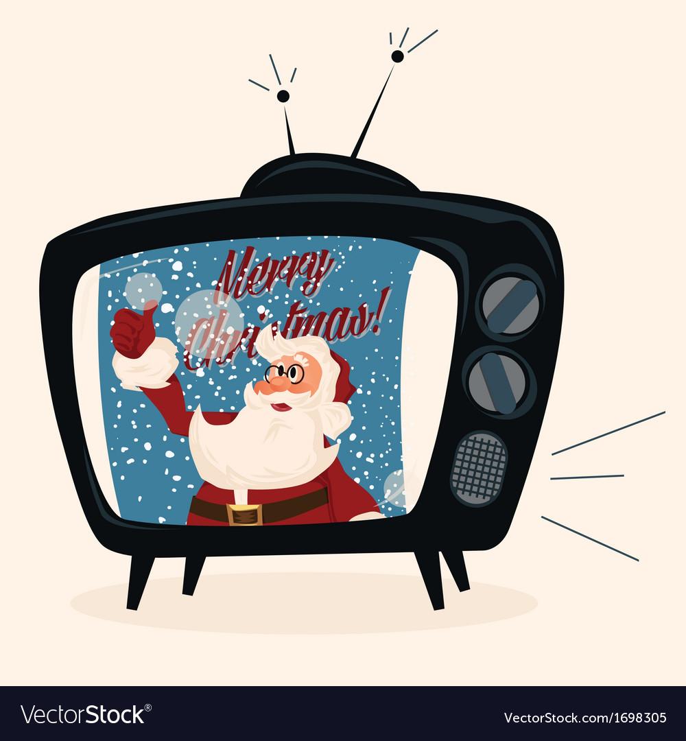 Santa character cartoon vector | Price: 1 Credit (USD $1)