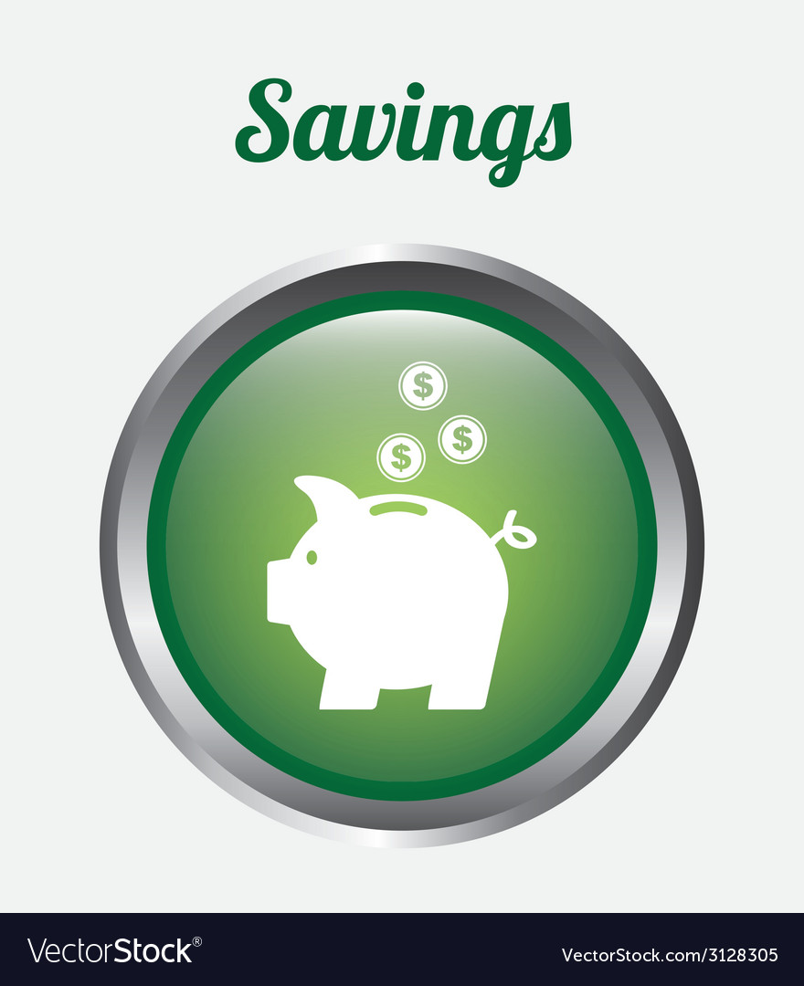 Save money design vector | Price: 1 Credit (USD $1)