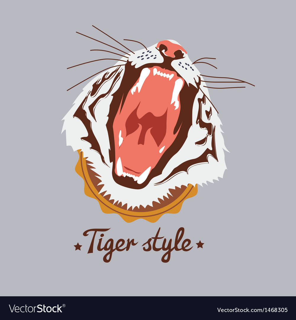 Tiger style design vector | Price: 1 Credit (USD $1)