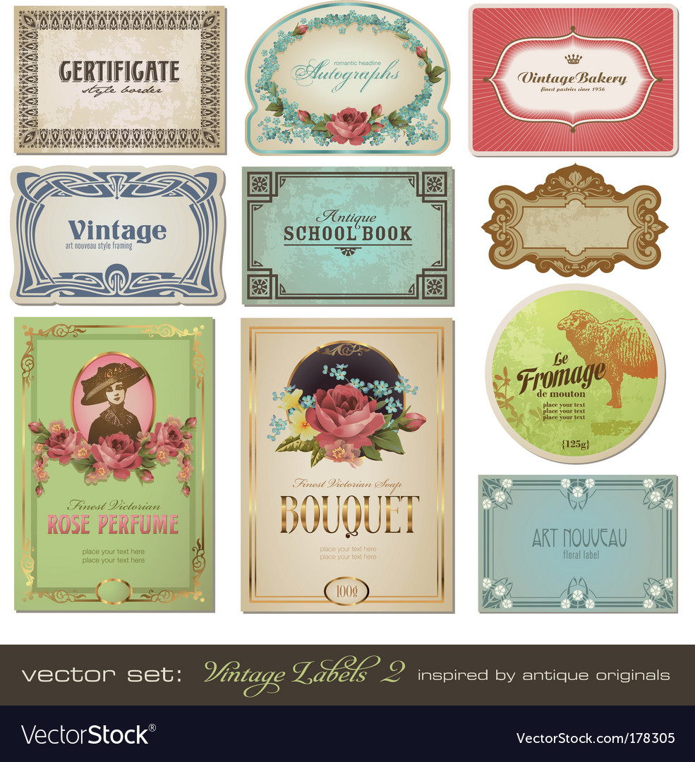 Vintage labels vector | Price: 3 Credit (USD $3)