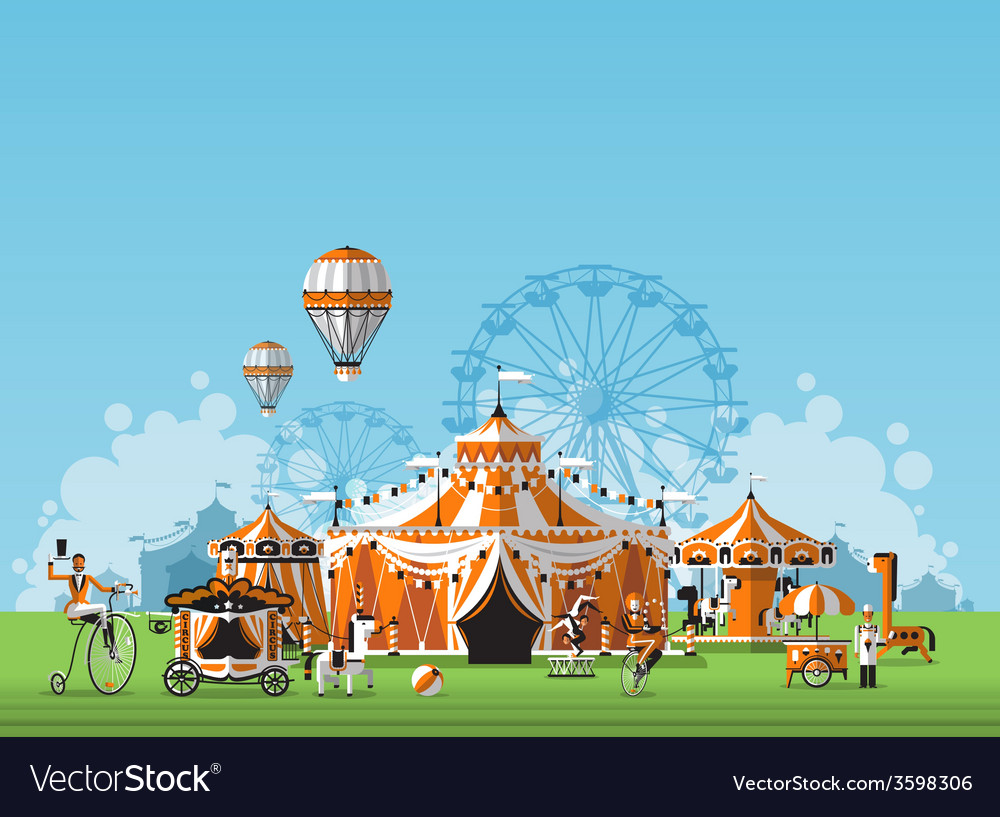 Abstract classical circus tent vector