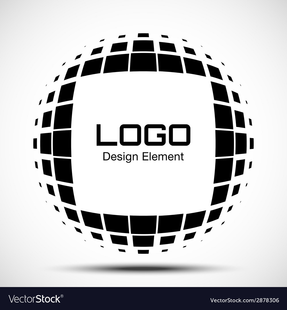 Abstract halftone logo design element vector | Price: 1 Credit (USD $1)