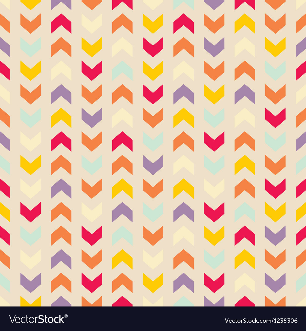 Aztec chevron seamless colorful pattern vector | Price: 1 Credit (USD $1)