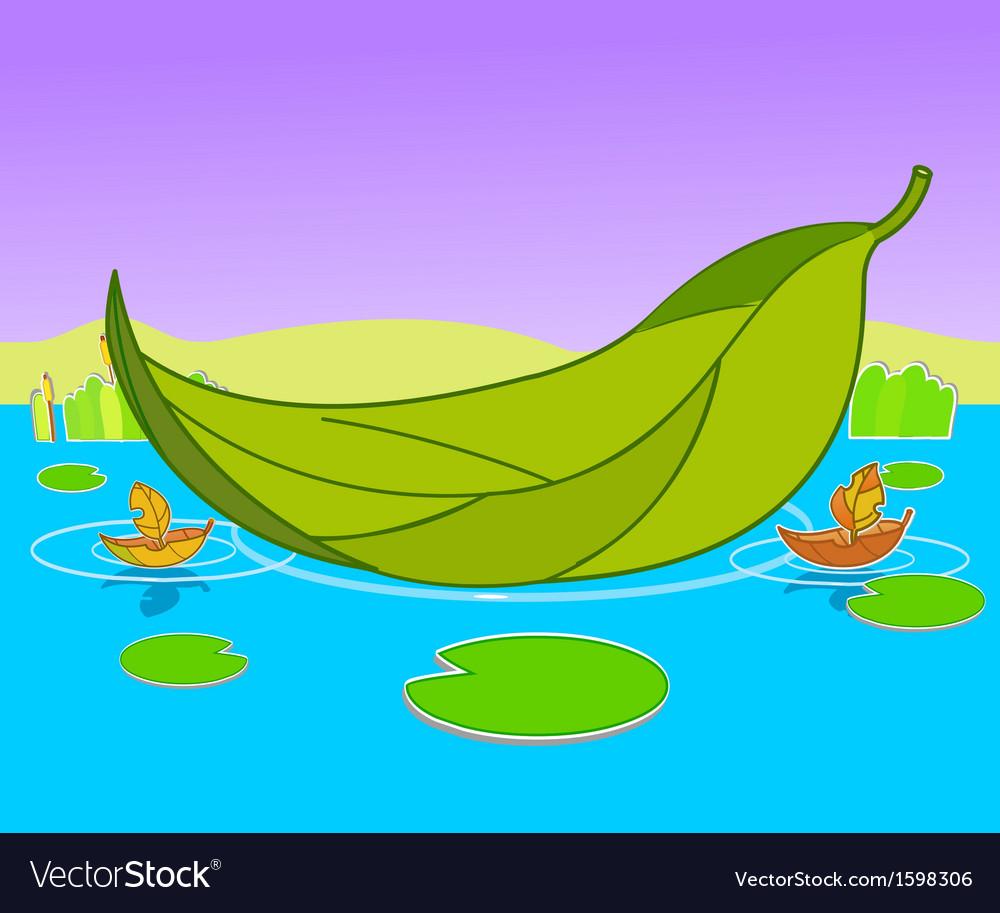 Boat leaf background vector | Price: 1 Credit (USD $1)