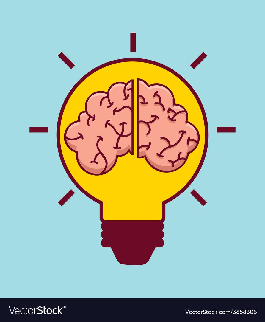 Creative brain vector | Price: 1 Credit (USD $1)