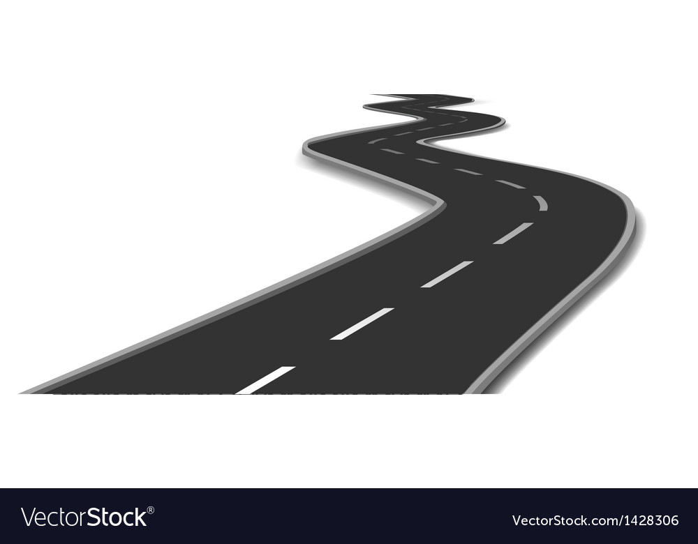 Curved road vector | Price: 1 Credit (USD $1)