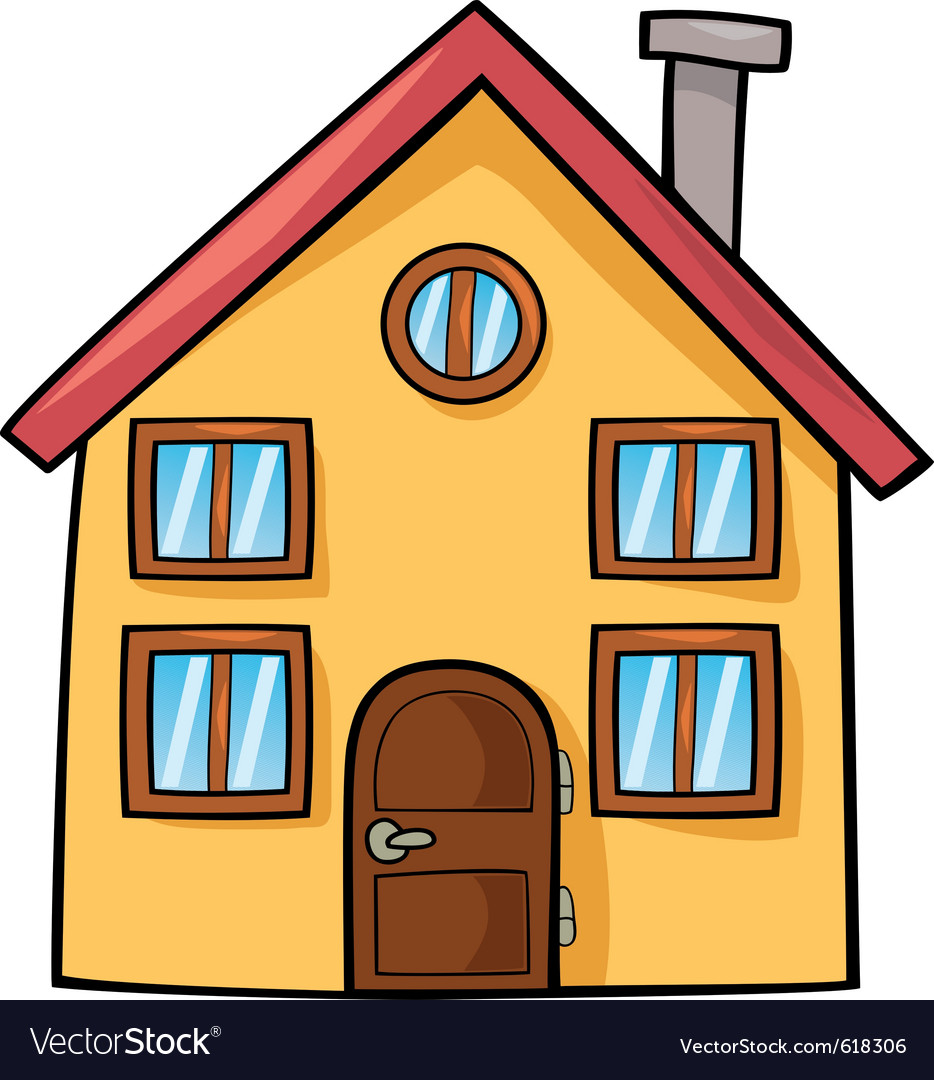 Funny house cartoon vector | Price: 1 Credit (USD $1)