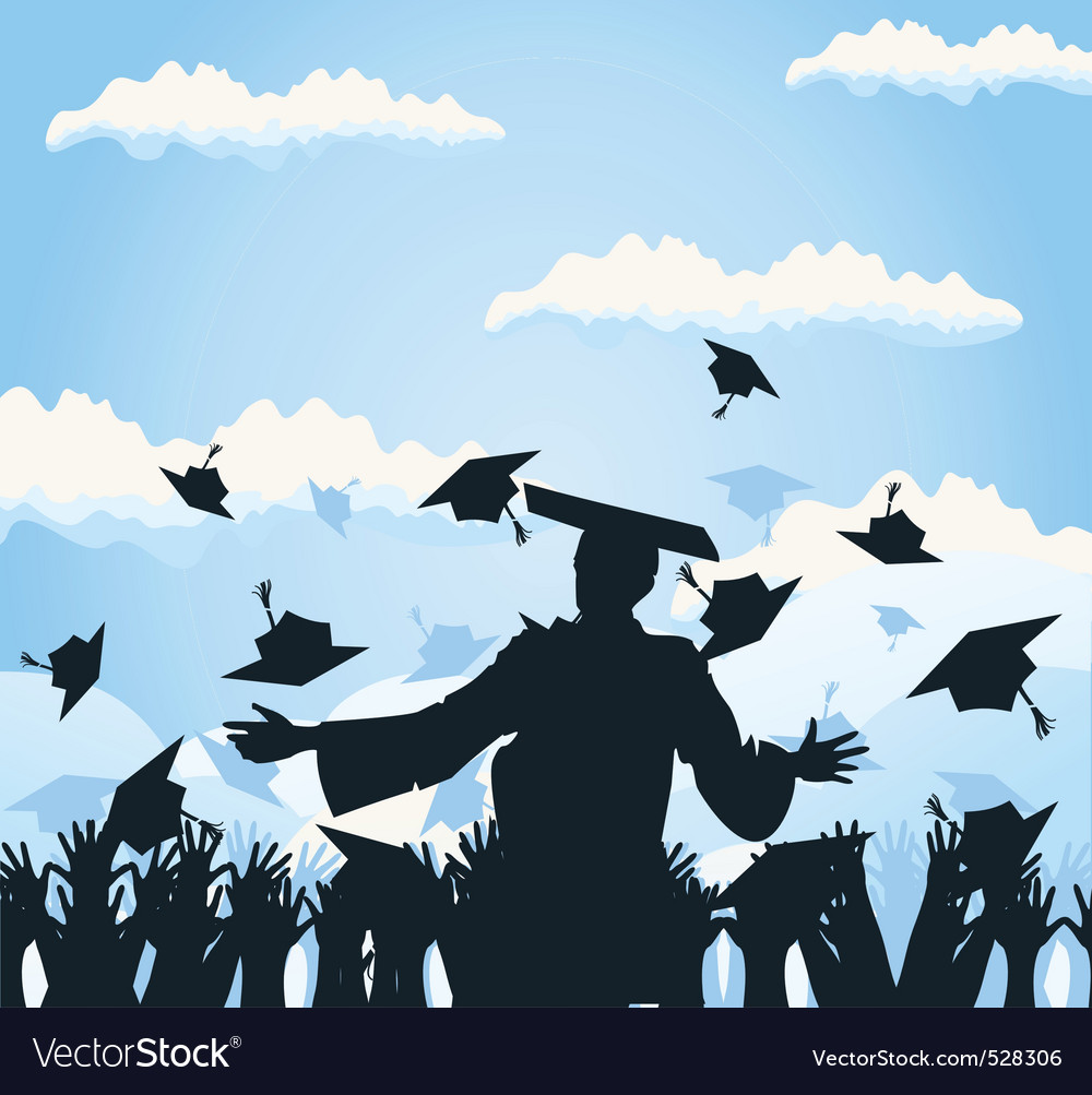 Graduation background vector | Price: 1 Credit (USD $1)