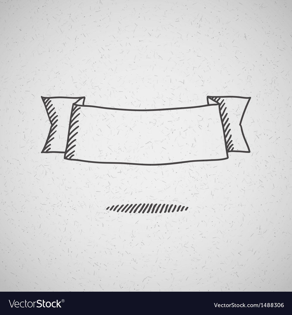 Hand drawn ribbon vector | Price: 1 Credit (USD $1)