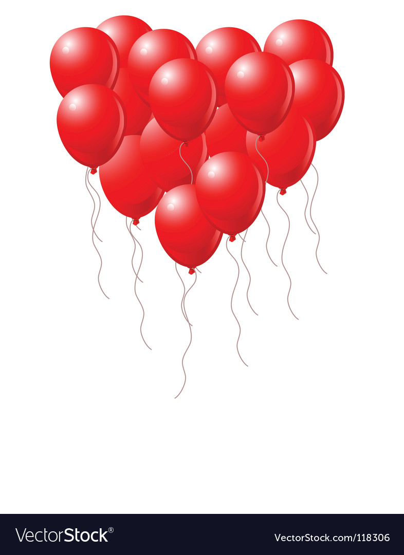 Heart balloons vector   Price: 1 Credit (USD $1)