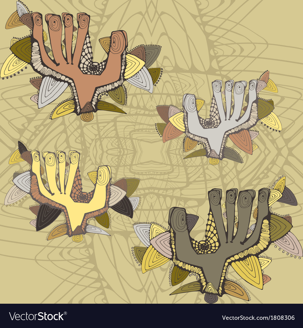 Light seamless pattern with greeting shaded hands vector | Price: 1 Credit (USD $1)