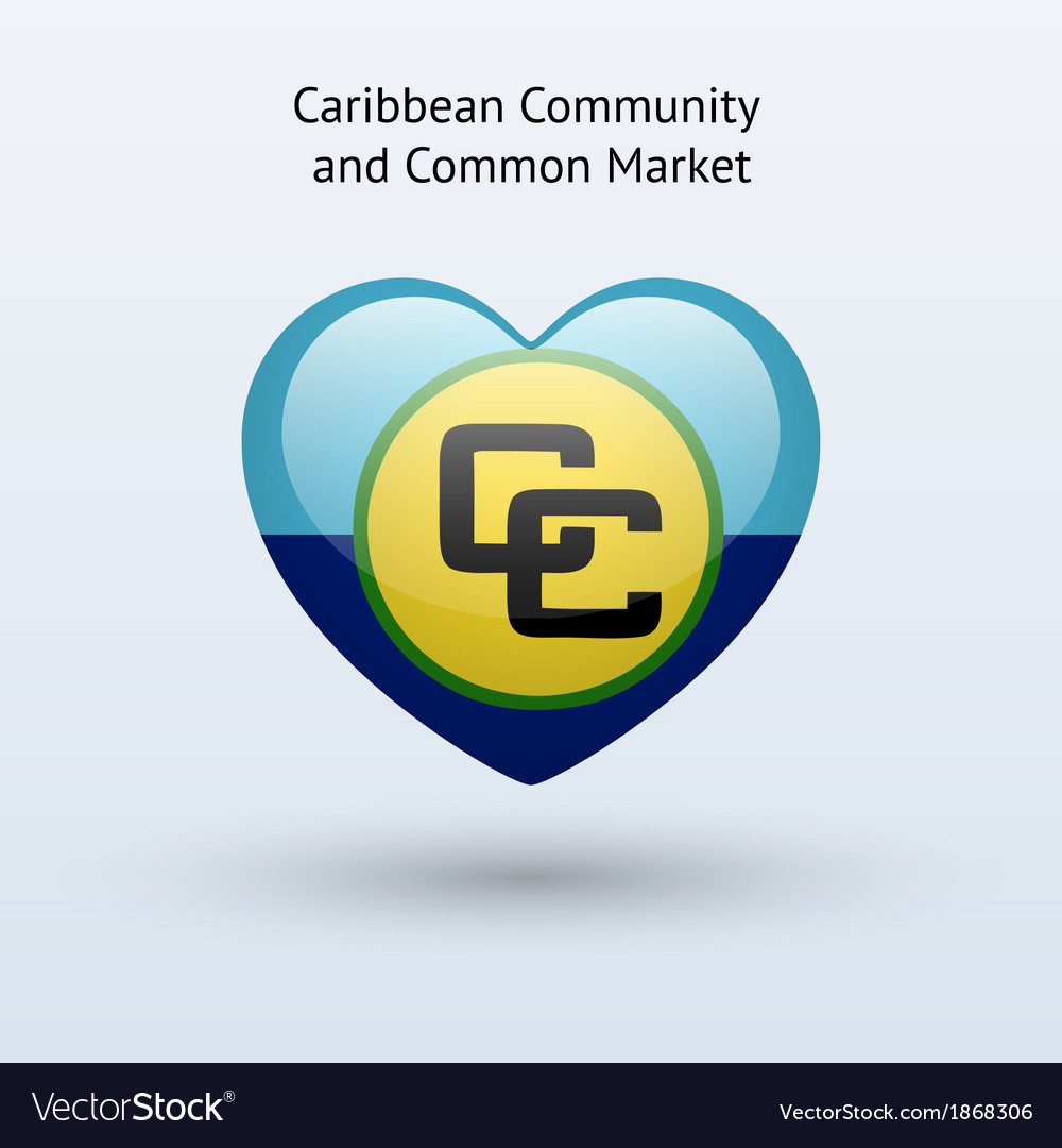 Love caribbean community and common market symbol vector | Price: 1 Credit (USD $1)