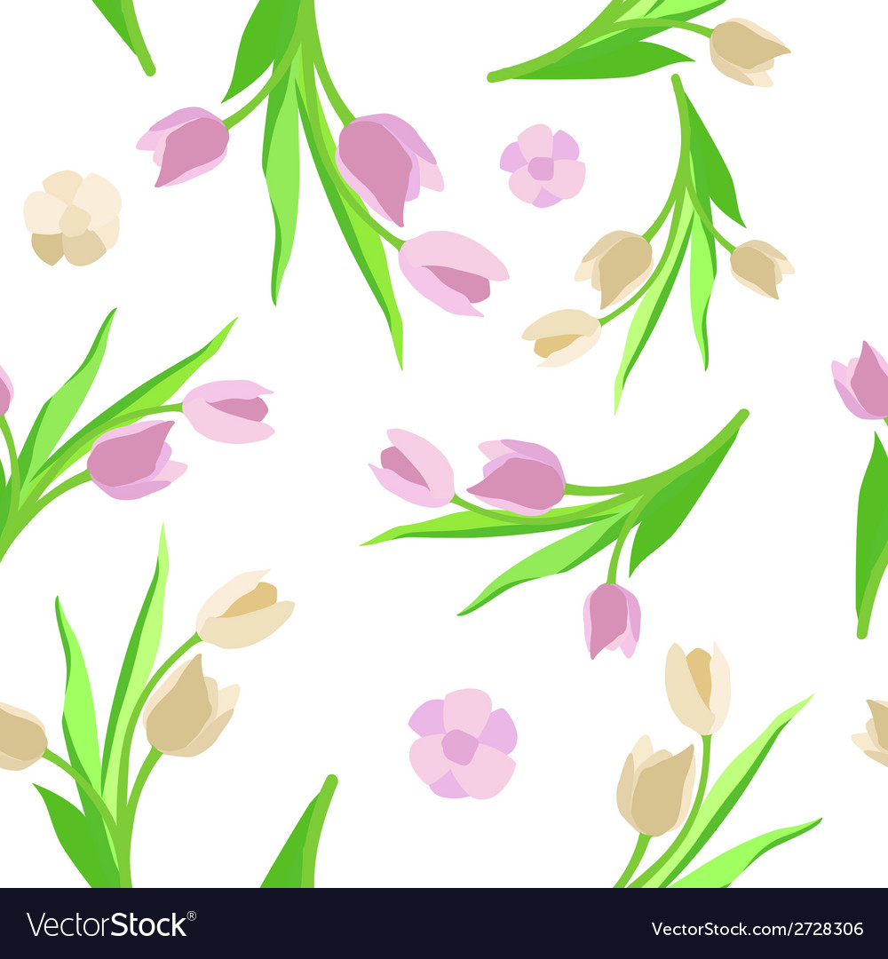 Pattern flower background green vector | Price: 1 Credit (USD $1)