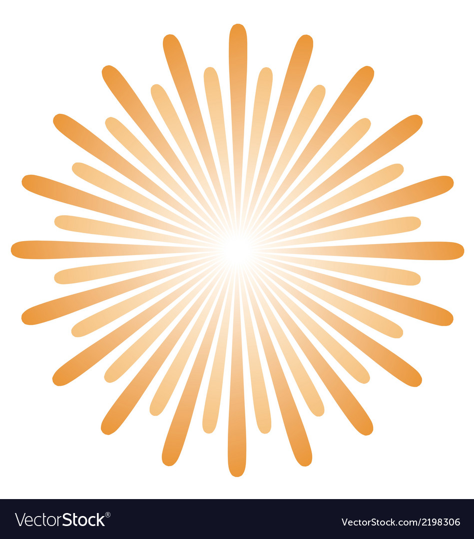 Radiating sun burst vector | Price: 1 Credit (USD $1)