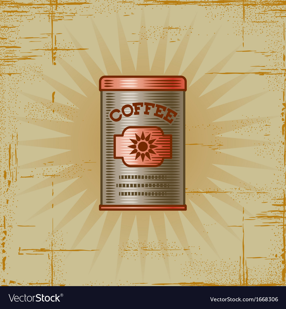 Retro coffee can vector | Price: 1 Credit (USD $1)