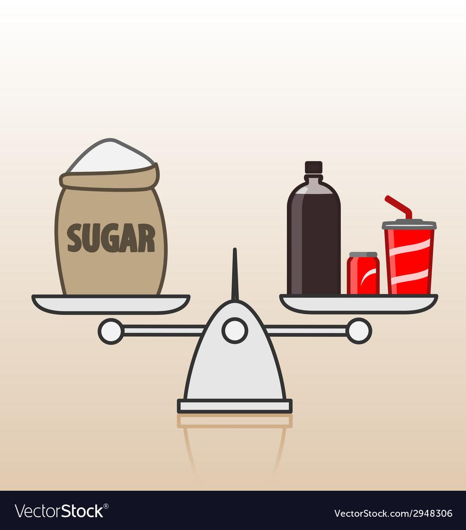 Soda and sugar vector | Price: 1 Credit (USD $1)
