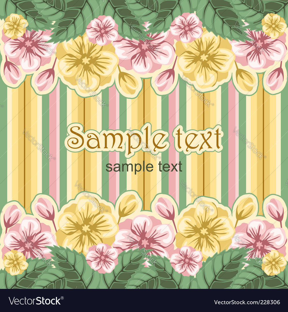 Striped floral background vector | Price: 1 Credit (USD $1)