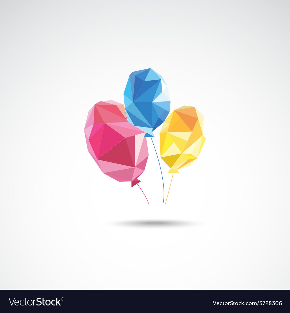 Triangle color balloons vector | Price: 1 Credit (USD $1)