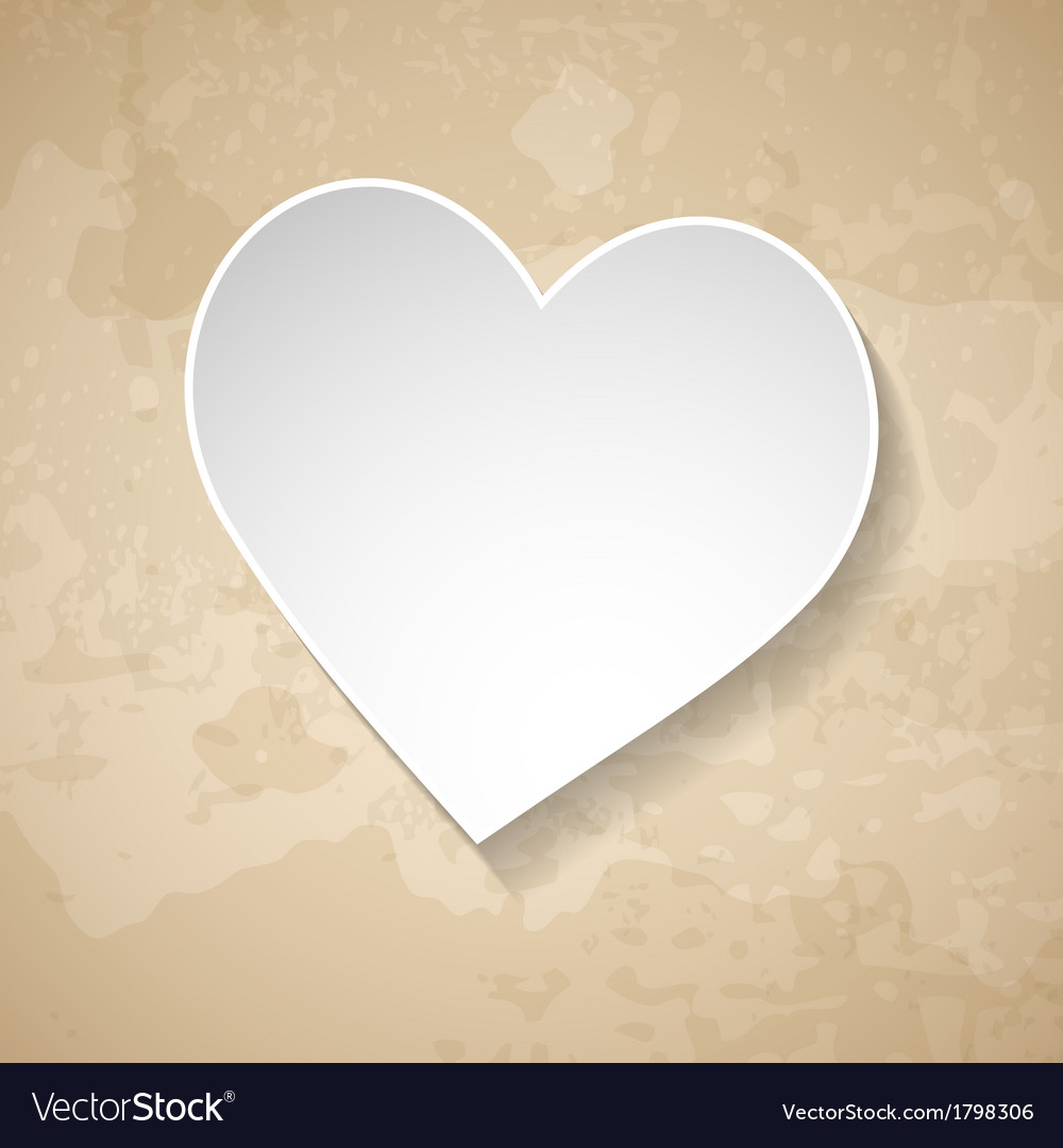 Vintage background with a paper heart vector | Price: 1 Credit (USD $1)