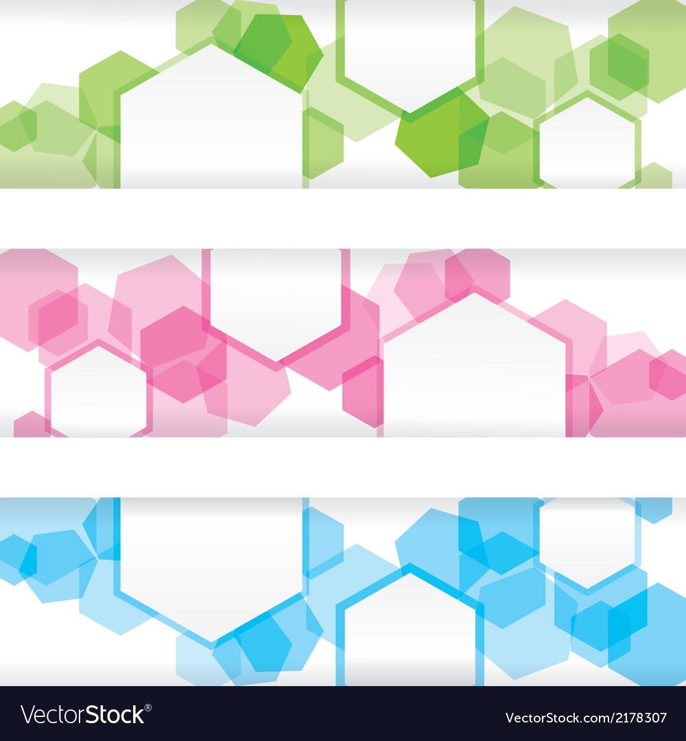 Abstract colorful banner with forms of empty frame vector | Price: 1 Credit (USD $1)