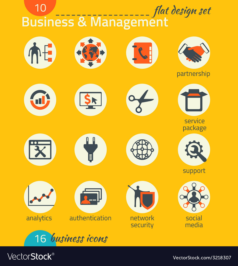 Business icon set software and web development vector   Price: 1 Credit (USD $1)