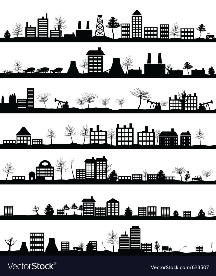 City landscapes vector | Price: 1 Credit (USD $1)