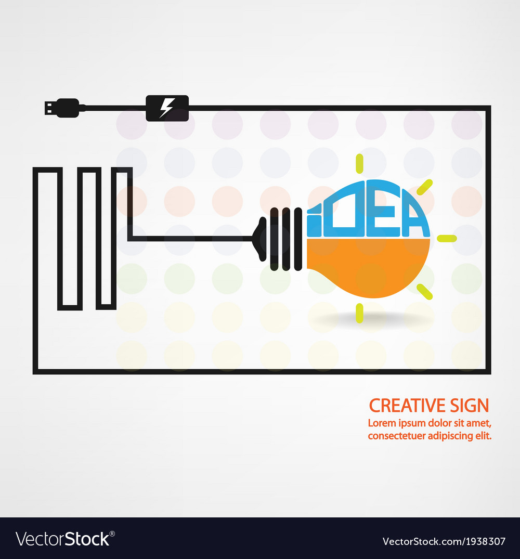 Creative light bulb symbol vector | Price: 1 Credit (USD $1)