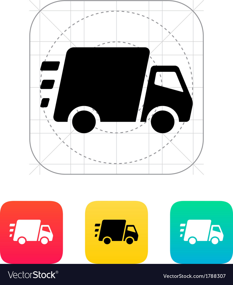 Fast delivery truck icon vector | Price: 1 Credit (USD $1)