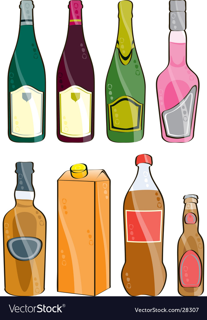 Few bottles vector | Price: 1 Credit (USD $1)