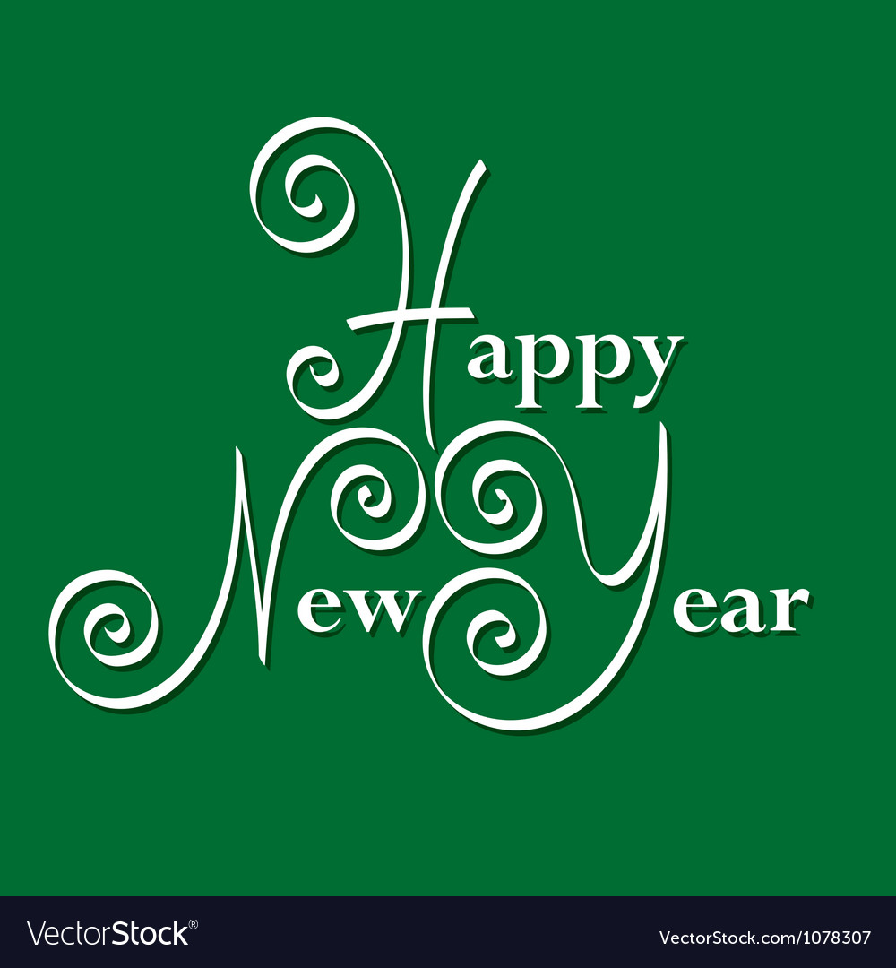 Happy new year hand lettering vector   Price: 1 Credit (USD $1)