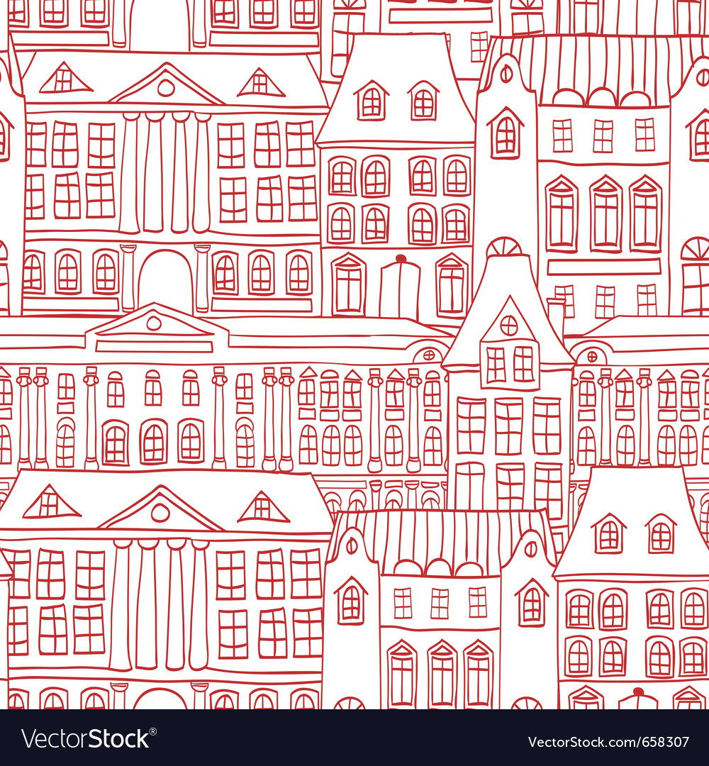 Historic houses vector | Price: 1 Credit (USD $1)