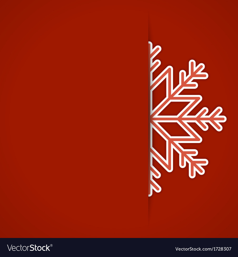 Merry christmas card and snowflake decoration vector | Price: 1 Credit (USD $1)