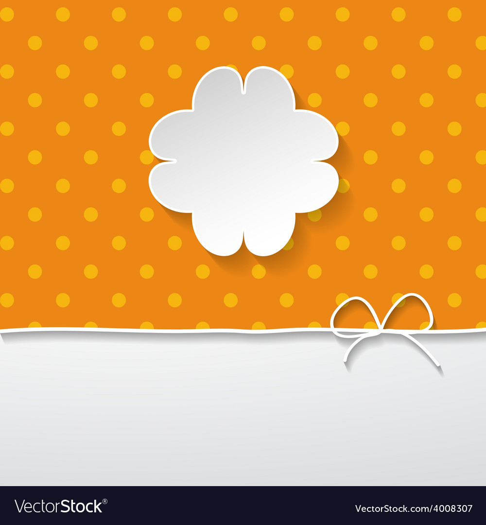 Orange background with a floral frame vector | Price: 1 Credit (USD $1)