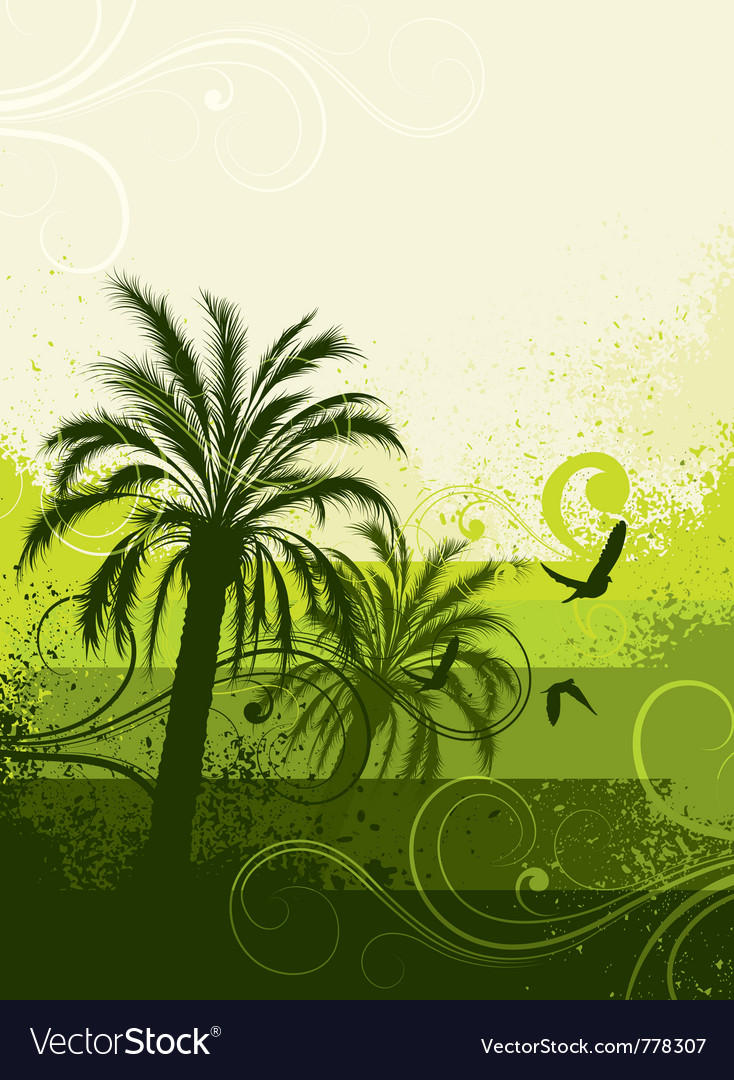 Tropical palm trees vector   Price: 1 Credit (USD $1)