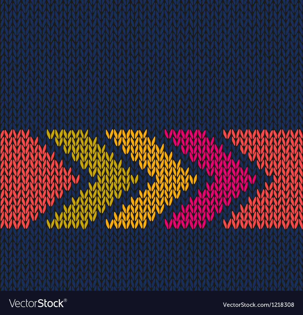 Arrow color knitted pattern vector | Price: 1 Credit (USD $1)