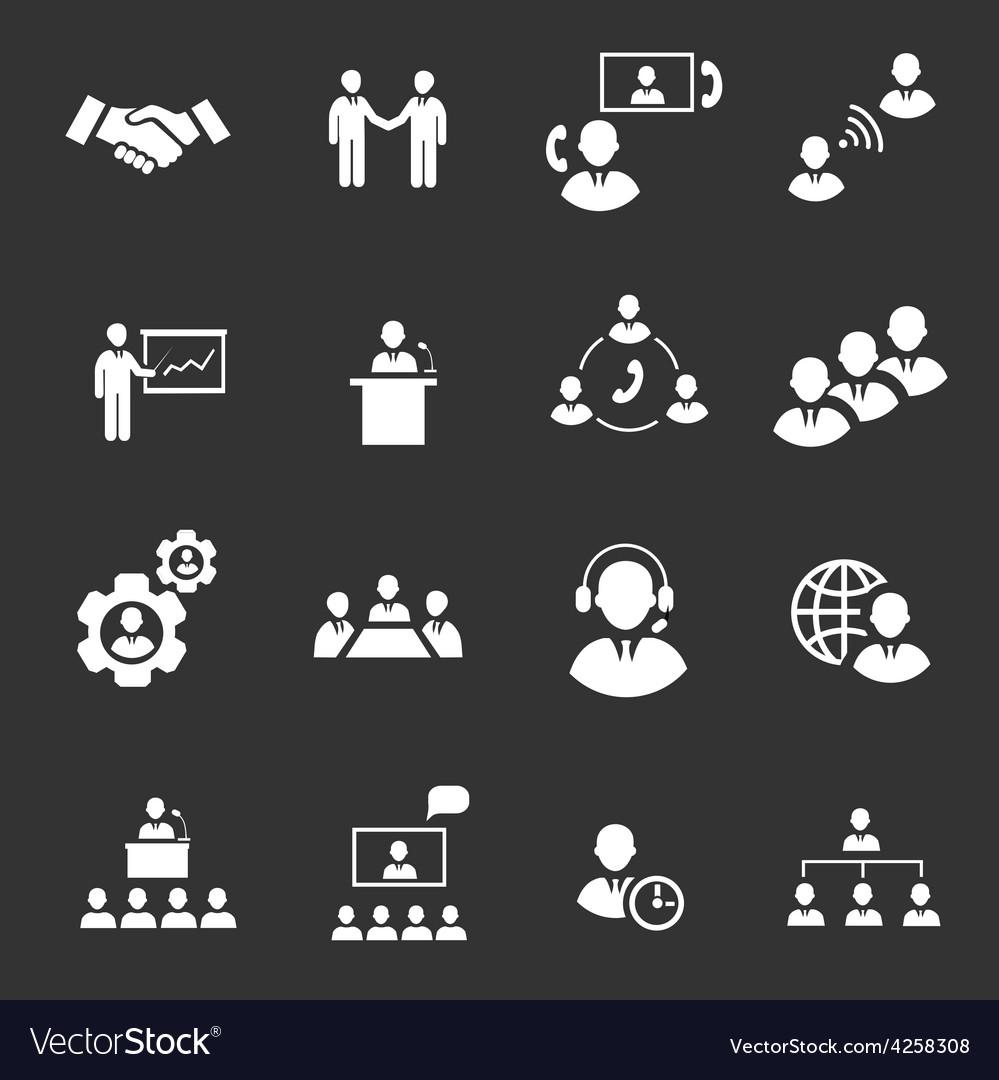 Business people online meeting strategic vector | Price: 1 Credit (USD $1)