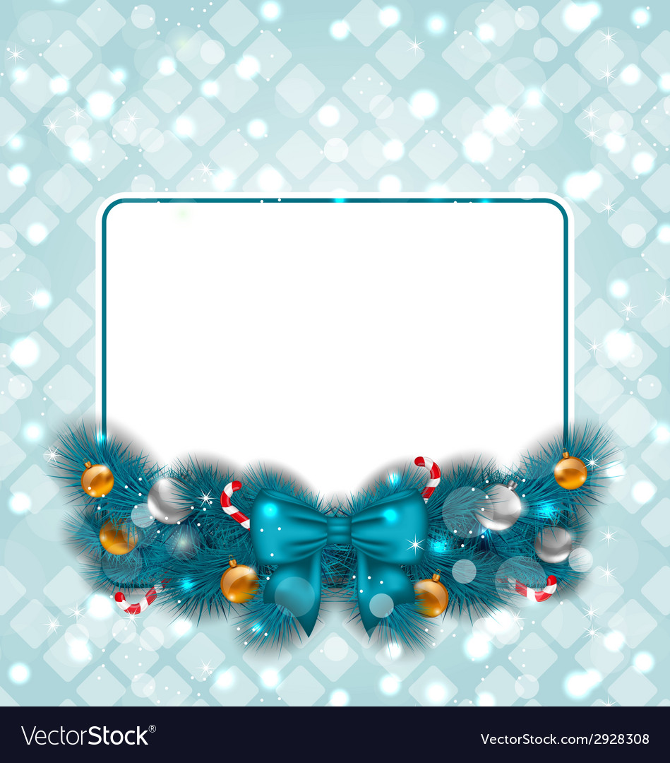 Celebration card with christmas decoration vector | Price: 1 Credit (USD $1)