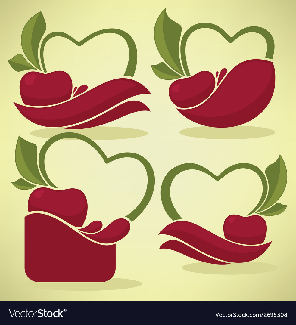 Cherry stickers vector | Price: 1 Credit (USD $1)