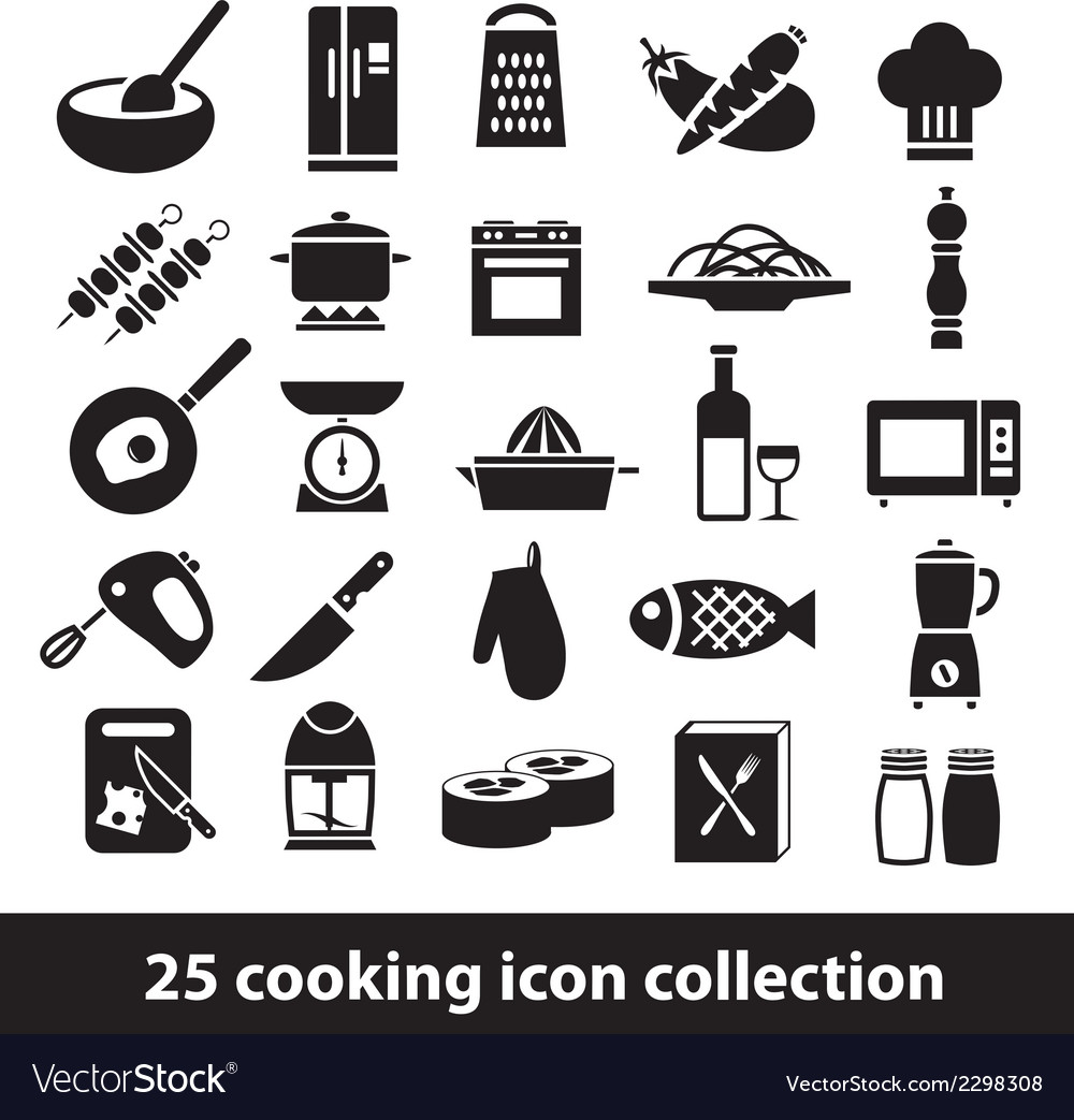 Cooking icons vector | Price: 1 Credit (USD $1)