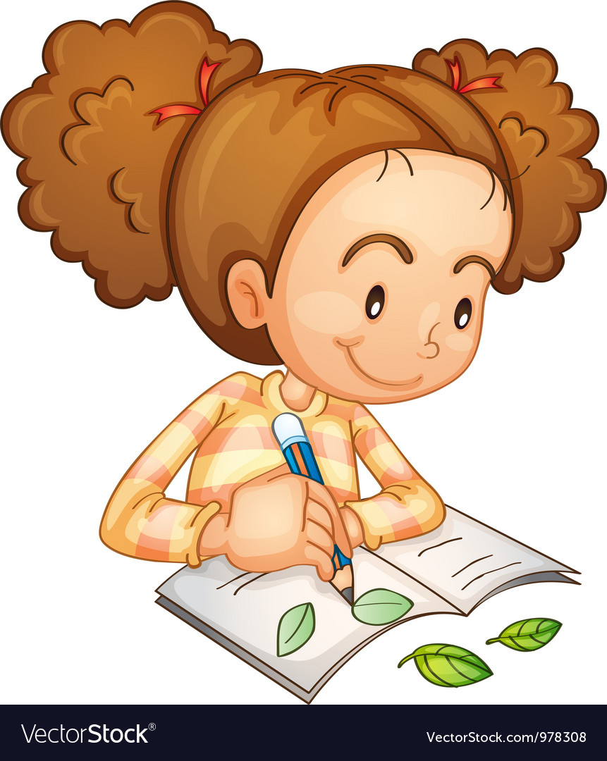 Girl studying vector | Price: 3 Credit (USD $3)