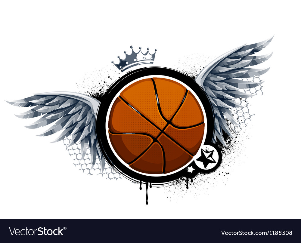 Grunge image with basketball vector | Price: 1 Credit (USD $1)