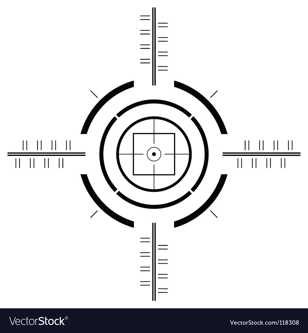 Gun sight template vector | Price: 1 Credit (USD $1)
