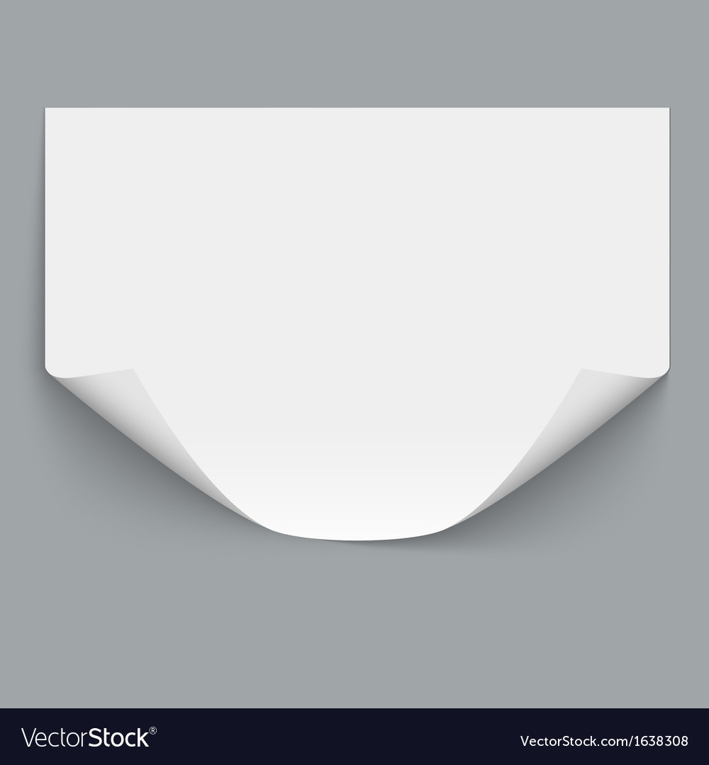 Horizontal empty paper sheet vector | Price: 1 Credit (USD $1)
