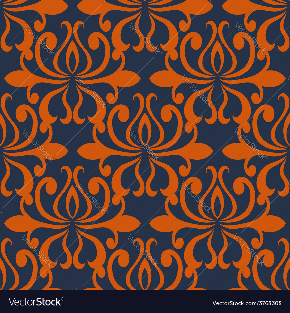 Large busy bold arabesque seamless pattern vector | Price: 1 Credit (USD $1)