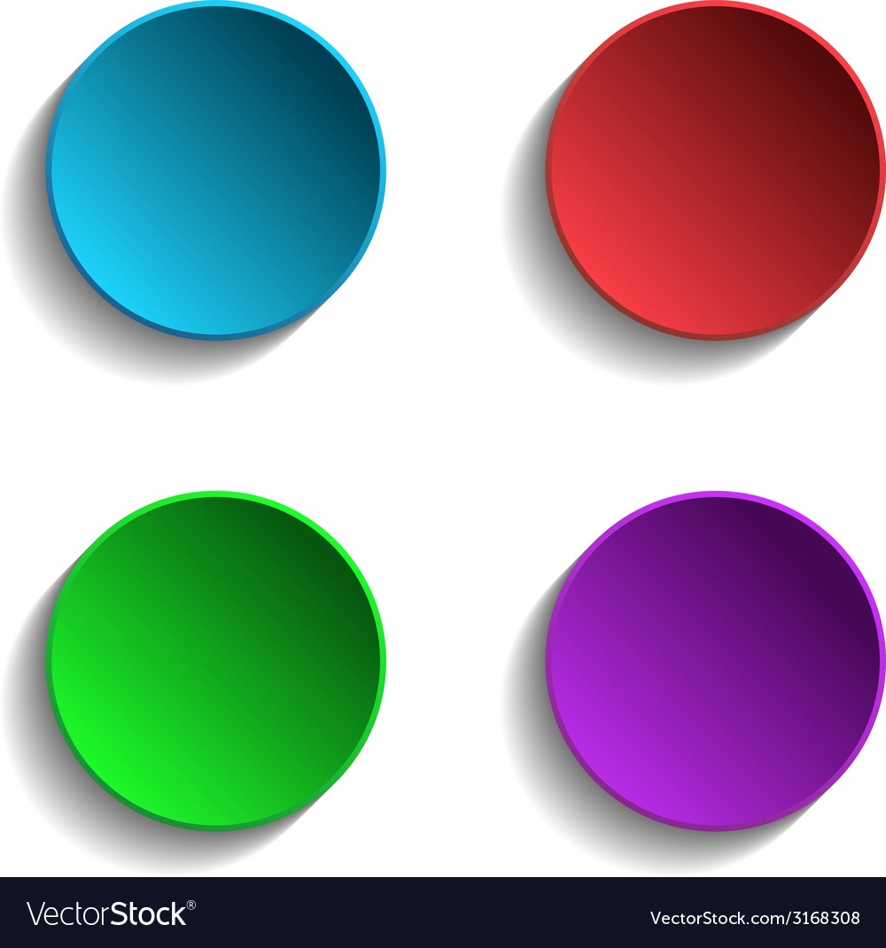 Set of colorful circle vector