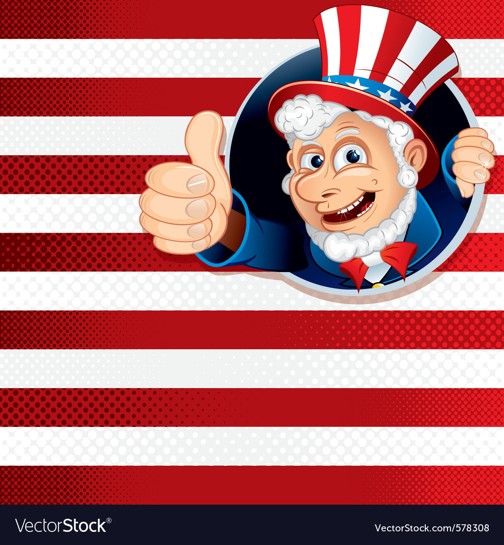 Uncle sam for independence day vector | Price: 1 Credit (USD $1)
