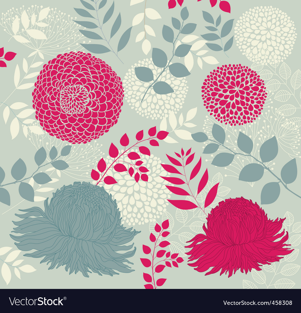Wallpaper with flowers vector | Price: 1 Credit (USD $1)