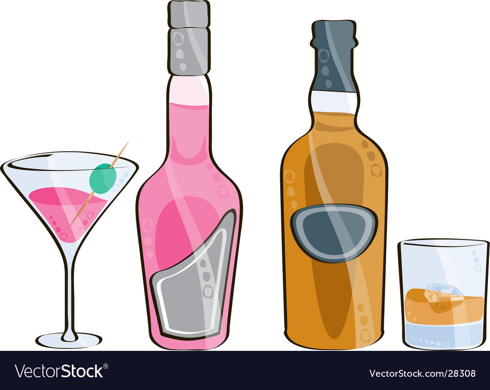 Whisky and cocktail vector | Price: 1 Credit (USD $1)