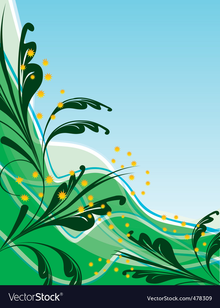 Abstract green background with leaves vector   Price: 1 Credit (USD $1)